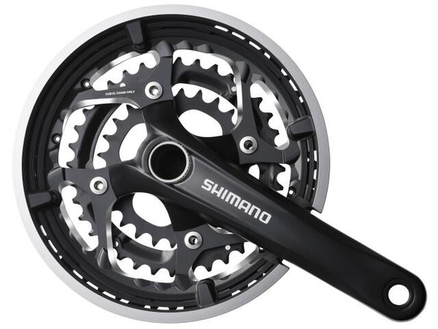 Shimano Trekking FC-T551 Kampisarja 3x10 48/36/26 hammasta sisältäen SM-BB52, black